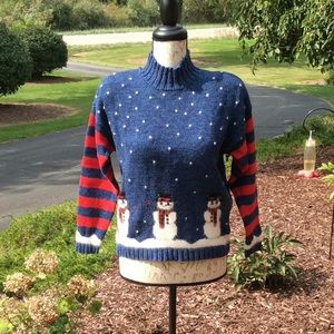 Women's Marisa Christina Snowman Sweater ⛄️ size S